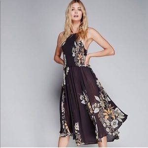 Free People Seasons in the Sun Smocked Dress Small
